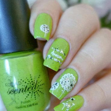 Dandelions nail art by Natasha