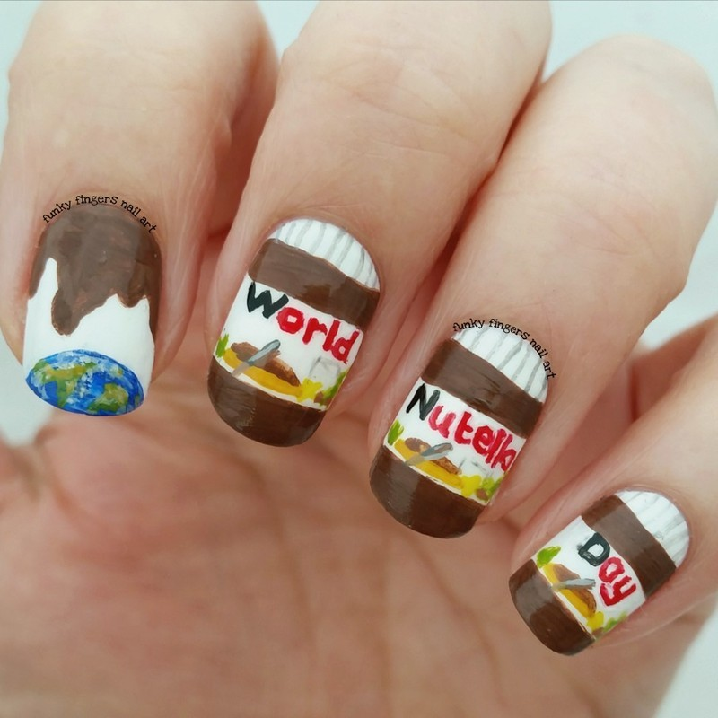 World nutella day  nail art by Funky fingers nail art