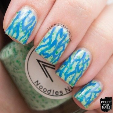 Noodles nail polish youre a green one blue nail art 3 thumb370f