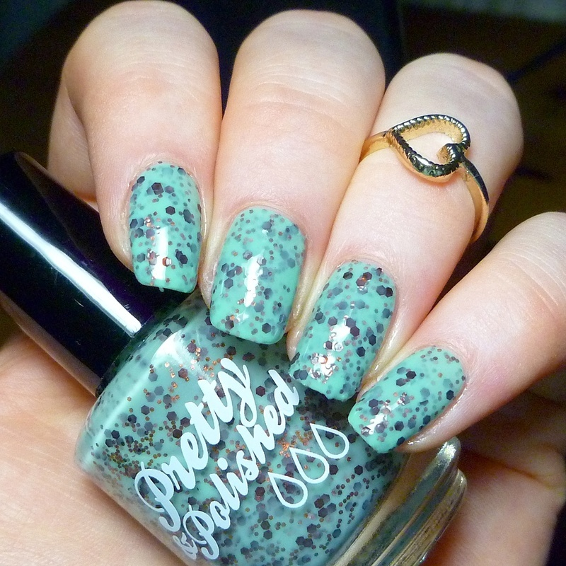 Pretty & Polished Mint Chocolate Ice Cream Swatch by nailicious_1