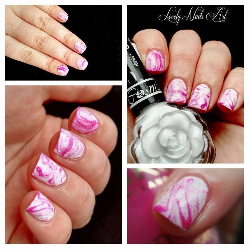 Nail art marbré nail art by Lovely Nail's  Art