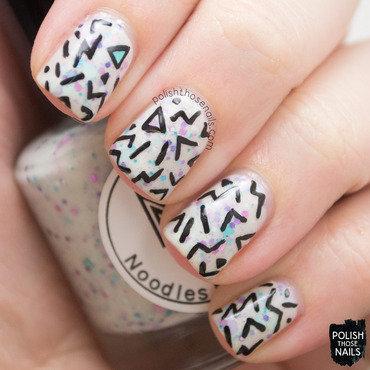Noodles nail polish black friday mystery white glitter crelly nail art 3 thumb370f