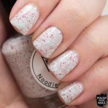 Noodles nail polish peppermint twist white glitter crelly swatch 3 thumb370f