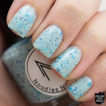 Noodles nail polish peppermint winter wishes blue glitter crelly swatch 3 thumb370f