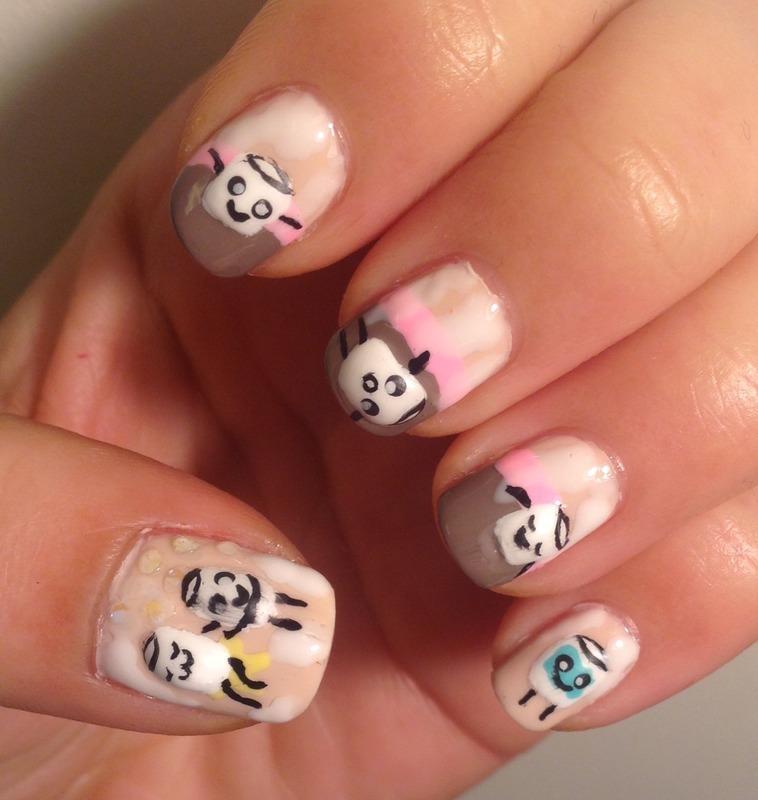 Marshmallows\' Day of Winter Fun, Pt 2: Spa (Kawaii Series) nail art ...