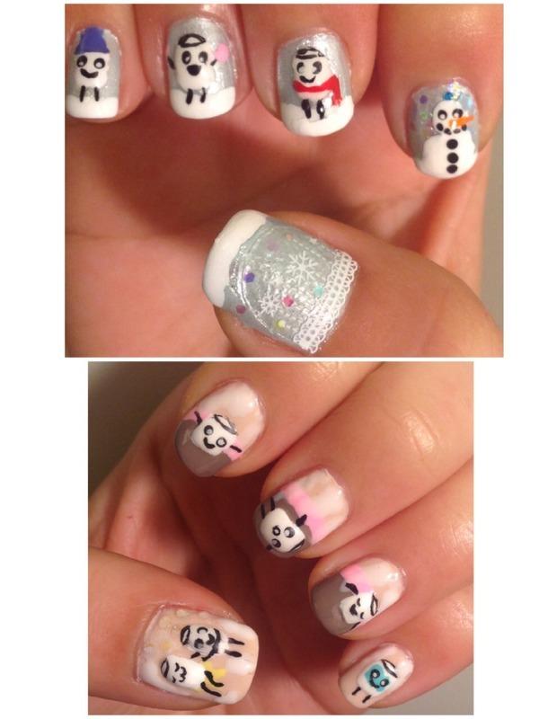 Marshmallows' Day of Winter Fun (Kawaii Series) nail art by Idreaminpolish