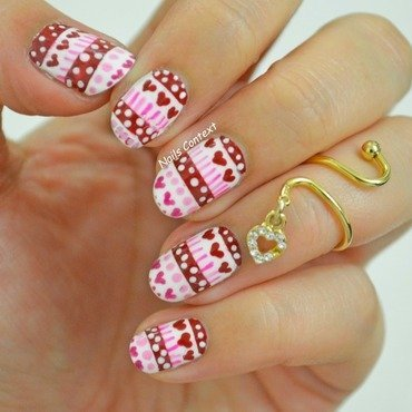 Be Mine, Valentine nail art by NailsContext