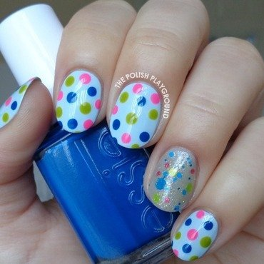 Glitter Polish Inspired Dotticure Nail Art nail art by Lisa N