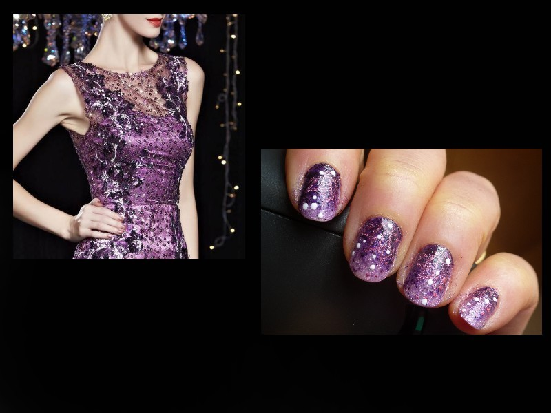 inspired by a dress nail art by Barbouilleuse