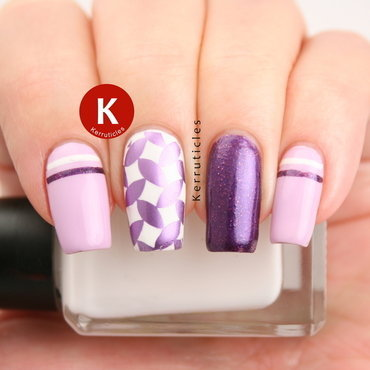 Purple skittlette nail art by Claire Kerr
