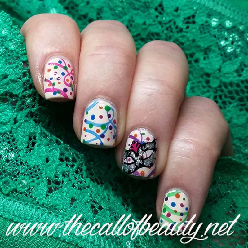 Carnival Mix and Match nail art by The Call of Beauty
