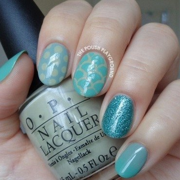 Green Mix and Match Skittle Nail Art nail art by Lisa N