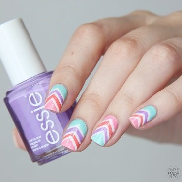Stripes nail art by Annika