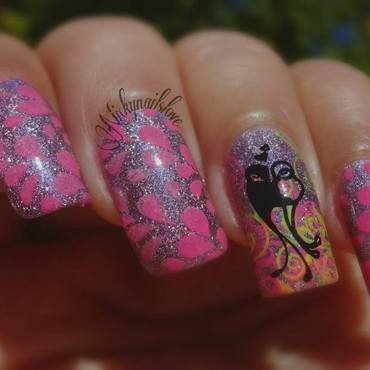 Love Blossom nail art by Nicky
