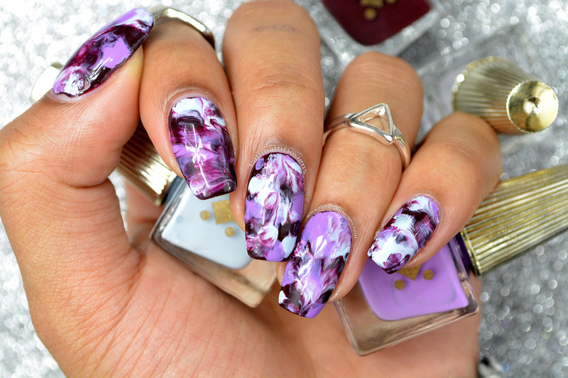 Easy Marble nail art by Fatimah