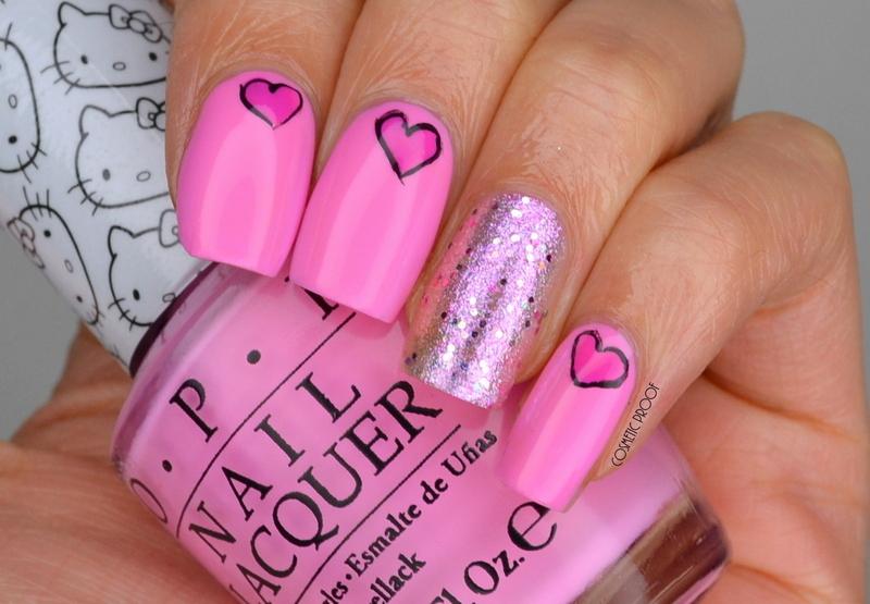 Hello Kitty Valentine's Nails nail art by Jayne