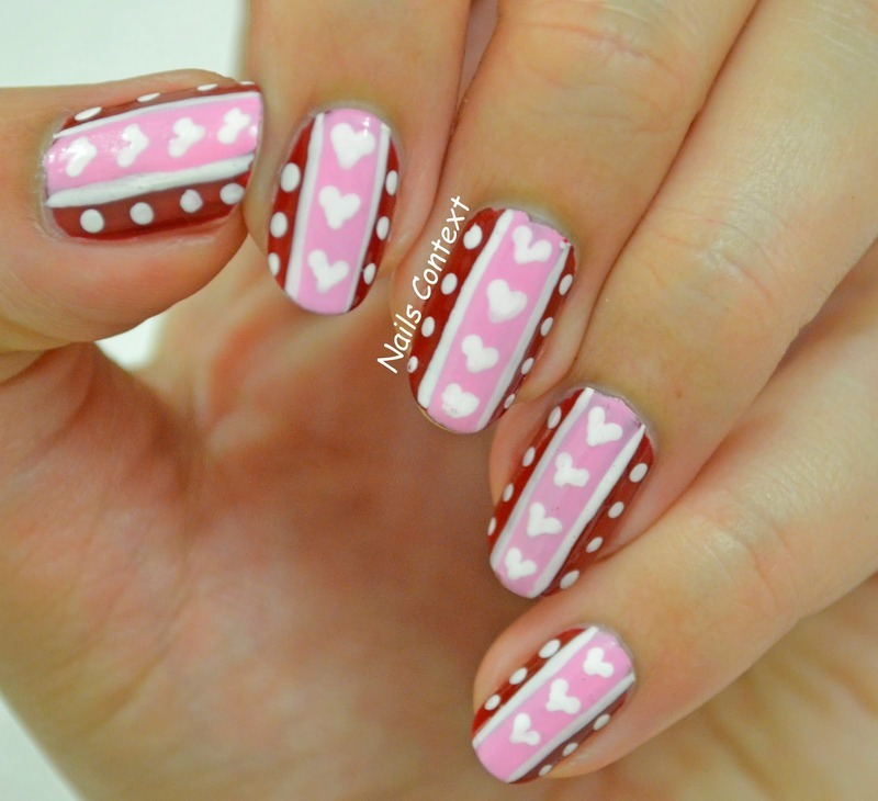 Valentines Hearts  nail art by NailsContext