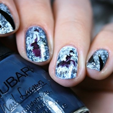 Audrey in grey nail art by Romana