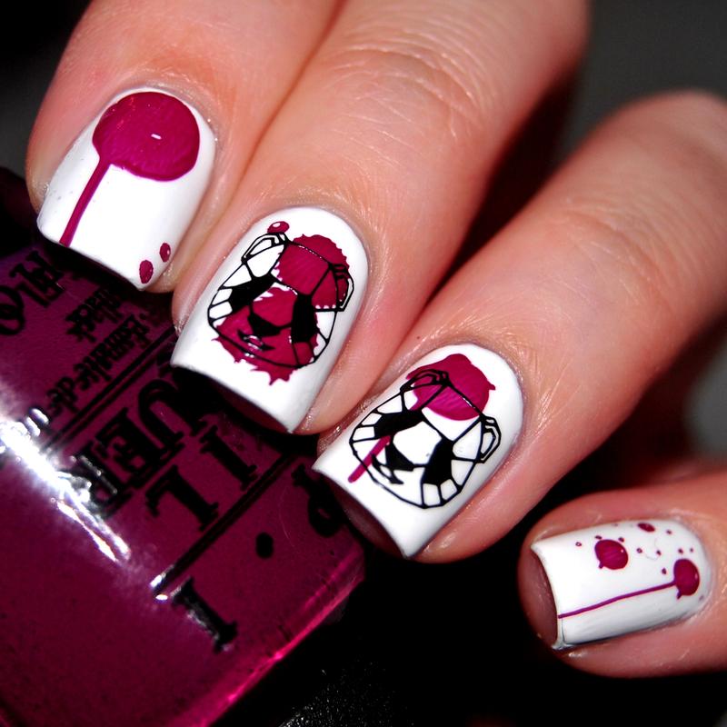 Purple Panda nail art by Lackopfer