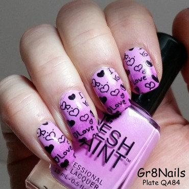 Love is in the air nail art by Gr8Nails