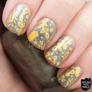 Leaflet nail art by Marisa  Cavanaugh