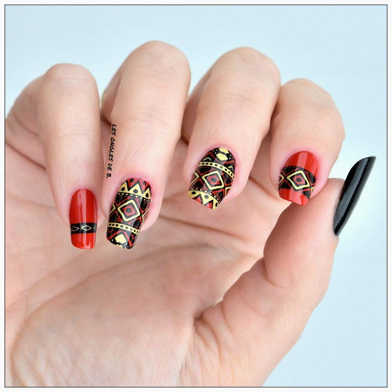 Ethnique nail art by Les ongles de B.