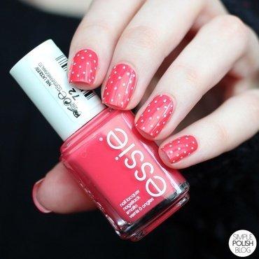 Peach Dots nail art by Annika