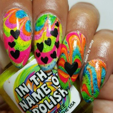 Rainbows and Glitter nail art by Milly Palma