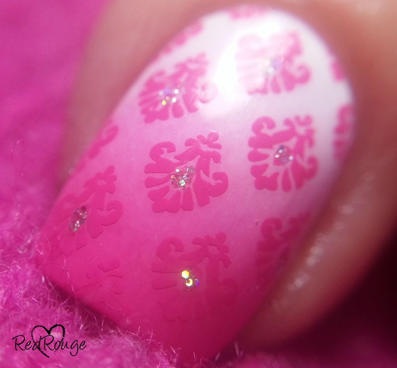 Valentine's nails macro nail art by RedRouge
