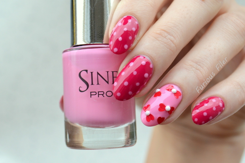 Valentine's Day  nail art by Furious Filer