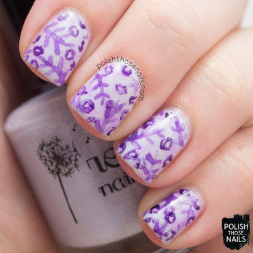 Purple pattern nature nail art 4 thumb370f