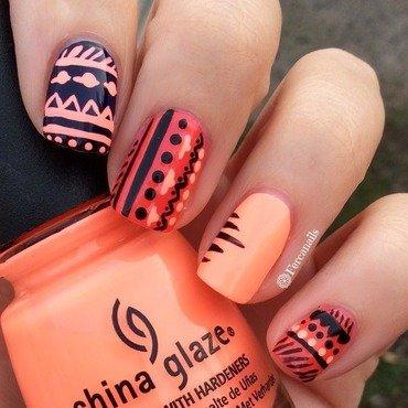 Tribal nails nail art by Fercanails