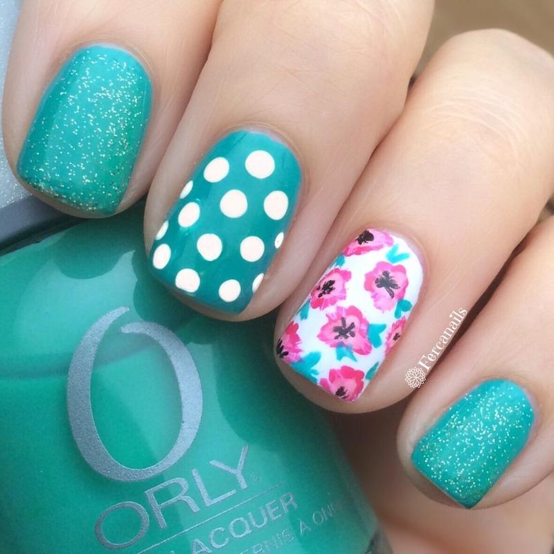 Mix and match nail art by Fercanails