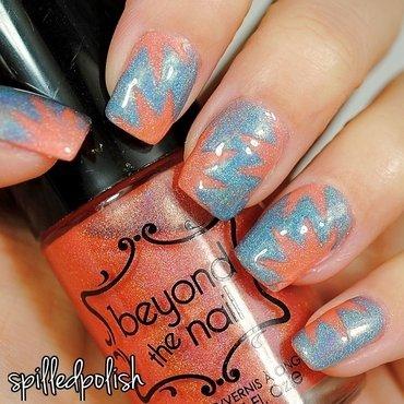Mani Swap - Starbursts! nail art by Maddy S