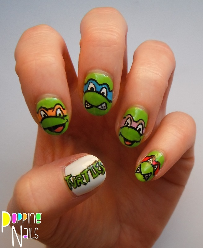 Teenage Mutant Ninja Turtles nail art by Charlie - Popping Nails ...