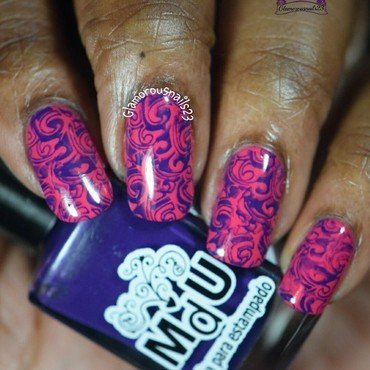 Abstract Stamping nail art by glamorousnails23
