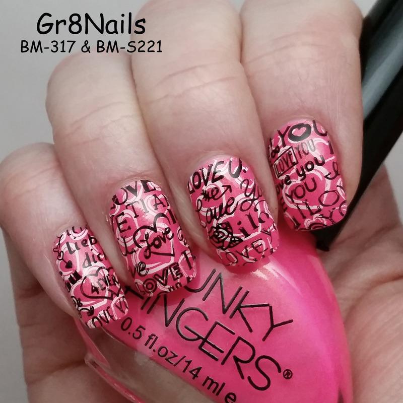 V-Day nail art by Gr8Nails