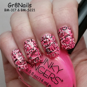 V-Day nail art by Gr8Nails