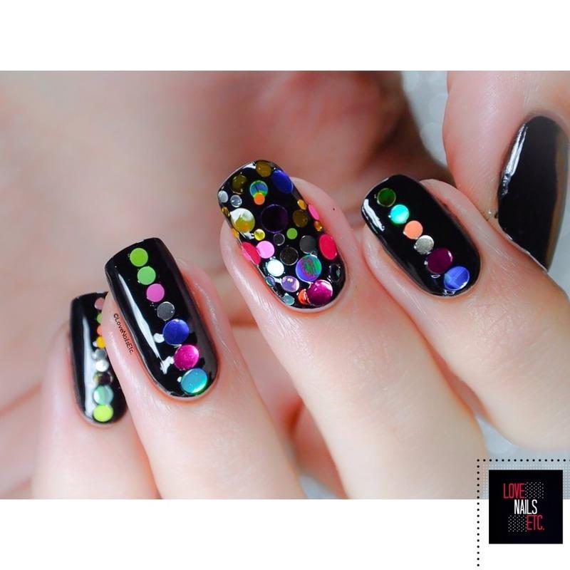 Mirror nail art by Love Nails Etc