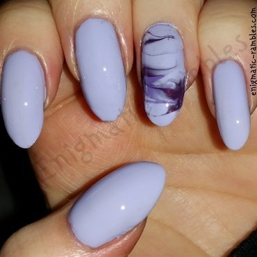 Purple Marble Nails nail art by Enigmatic Rambles