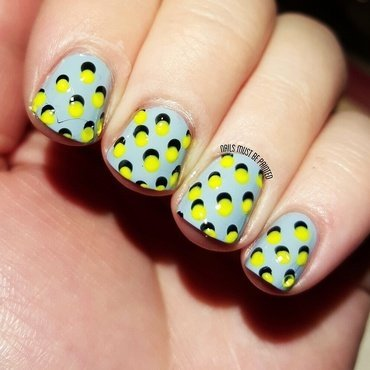 Neon Shadows nail art by Emily