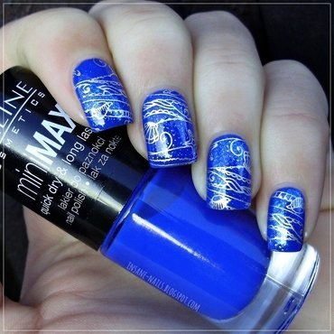 Matching manicures blue nails 3 thumb370f