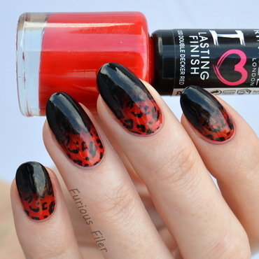 Edgy Valentine nail art by Furious Filer
