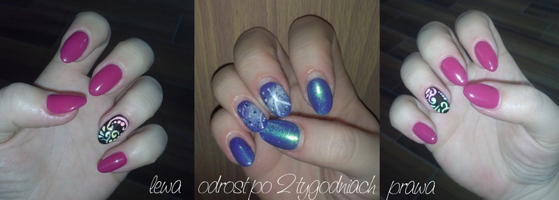 Swirly nails nail art by Magda