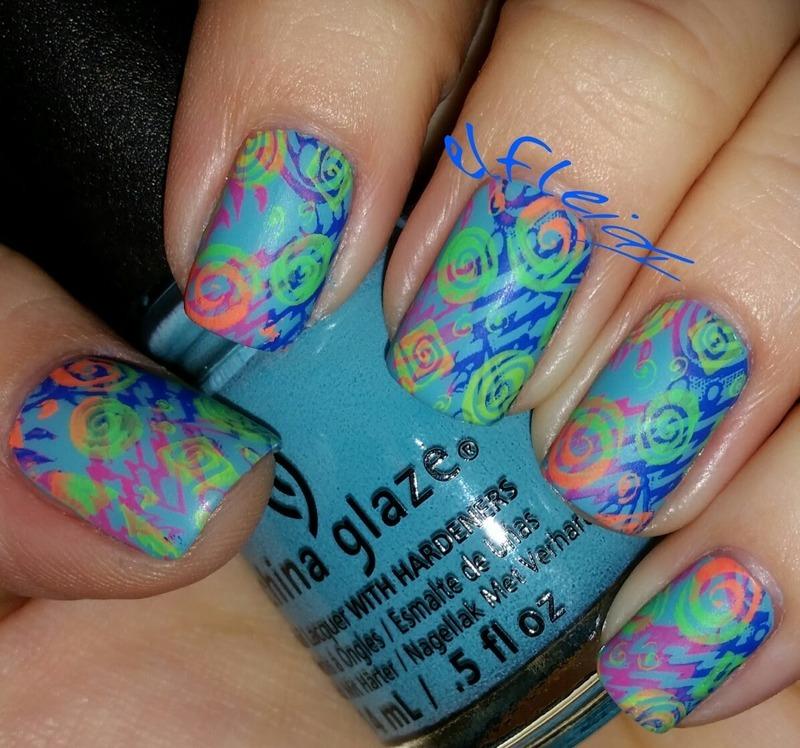 #clairestelle8feb decade you love nail art by Jenette Maitland-Tomblin