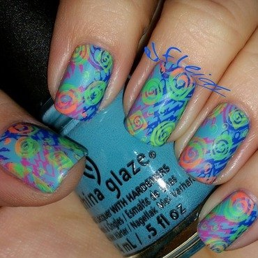 #clairestelle8feb decade you love nail art by Jenette Maitland-Tomblin