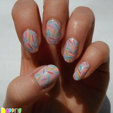 Sprinkles nail art by Charlie - Popping Nails