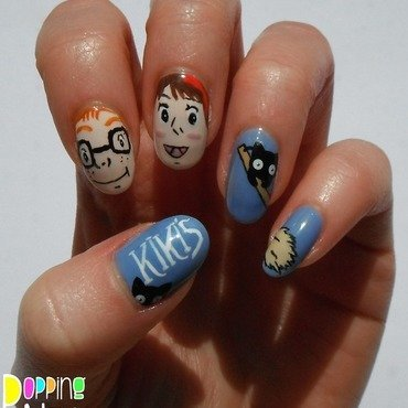 Kiki's Delivery Service nail art by Charlie - Popping Nails