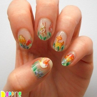 Woodland Scene nail art by Charlie - Popping Nails