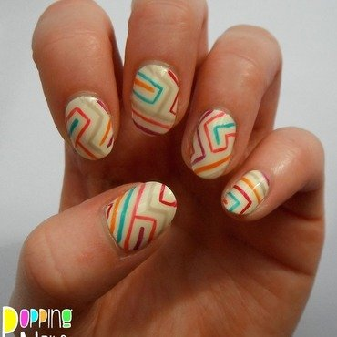 Maze nail art by Charlie - Popping Nails